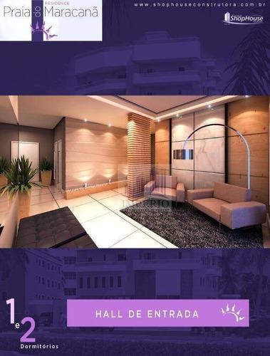 apartamento residencial à venda, balneário maracanã, praia grande. - ap0131