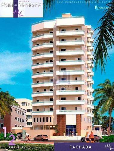 apartamento residencial à venda, balneário maracanã, praia grande. - ap0132