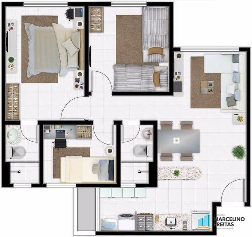 apartamento residencial à venda, barra nova, caucaia. - codigo: ap2717 - ap2717