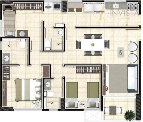 apartamento  residencial à venda, bessa, joão pessoa. - ap3993