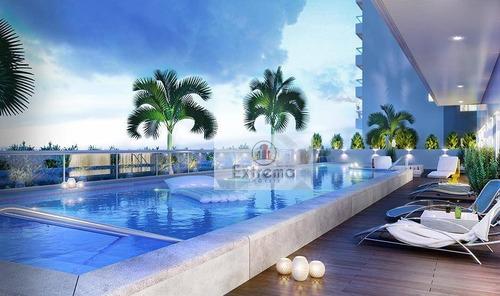 apartamento residencial à venda, boqueirão, praia grande. - ap0338