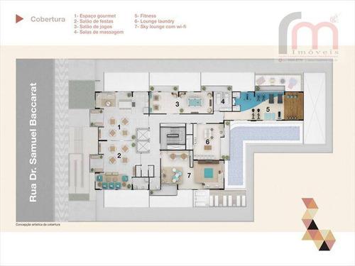 apartamento residencial à venda, boqueirão, santos - ap0676. - ap0676
