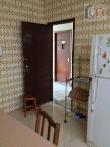 apartamento  residencial à venda, boqueirão, santos. quadra da praia com elevador - codigo: ap1417 - ap1417