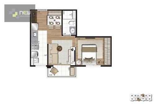 apartamento residencial à venda, brás, são paulo. - ap0909