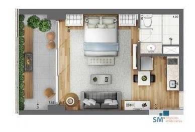 apartamento residencial à venda, brooklin, são paulo. - ap1462