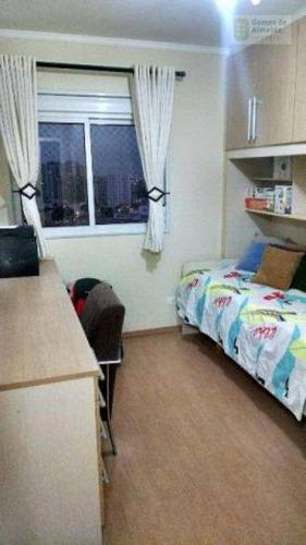 apartamento residencial à venda, campestre, santo andré - ap1677. - ap1677