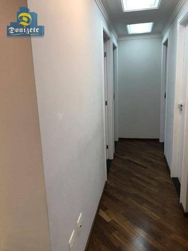 apartamento residencial à venda, campestre, santo andré. - ap2253
