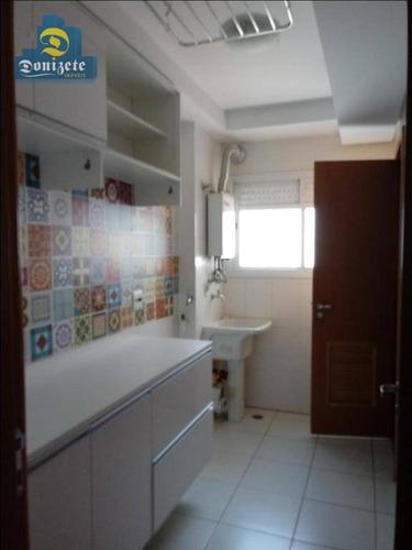 apartamento residencial à venda, campestre, santo andré. - ap5373