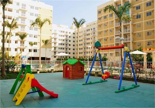 apartamento residencial à venda, campo grande, rio de janeiro. - ap0117