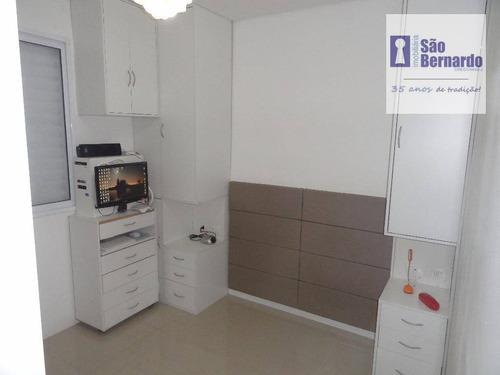 apartamento residencial à venda, cariobinha, americana. - ap0785
