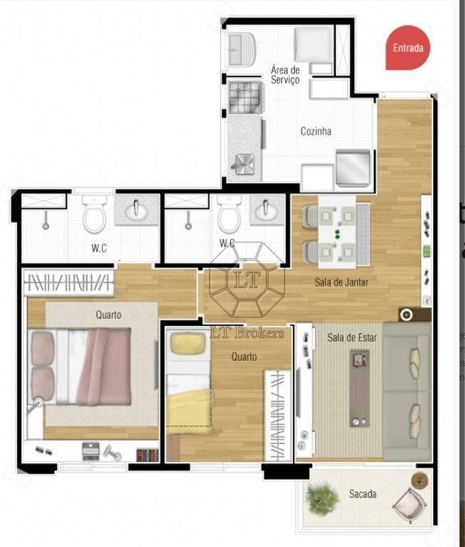 apartamento residencial à venda, casa branca, santo andré. - ap0336