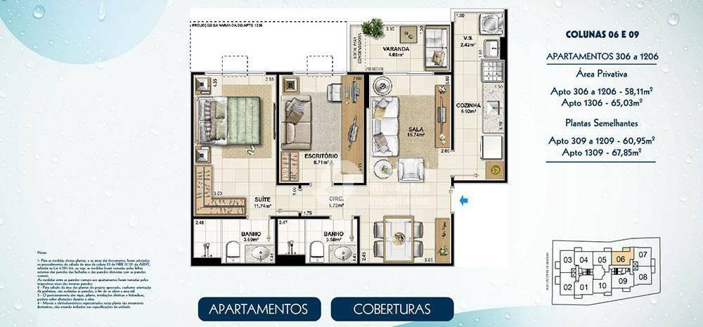 apartamento residencial à venda, centro, niterói - ap1668. - ap1668