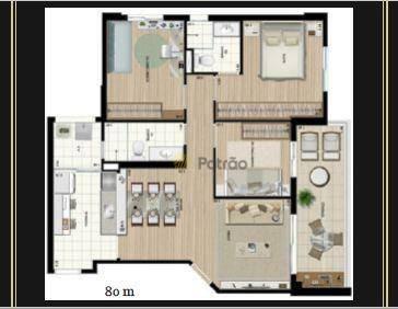 apartamento residencial à venda, centro, são bernardo do campo. - ap1936