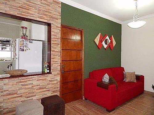 apartamento  residencial à venda, centro, são vicente. - ap0654