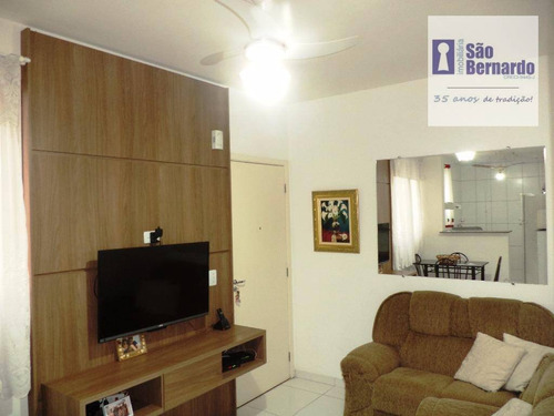 apartamento  residencial à venda, chácara machadinho i, americana. - ap0458