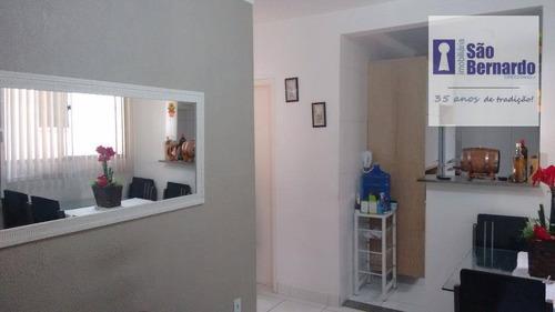 apartamento  residencial à venda, chácara machadinho i, parque asteca, americana. - ap0371