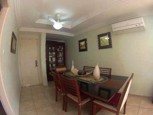 apartamento  residencial à venda, cidade ocian, praia grande. - ap0344
