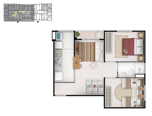 apartamento residencial à venda, cidade ocian, praia grande. - ap0742