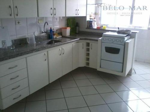 apartamento  residencial à venda, cidade ocian, praia grande. - codigo: ap0628 - ap0628