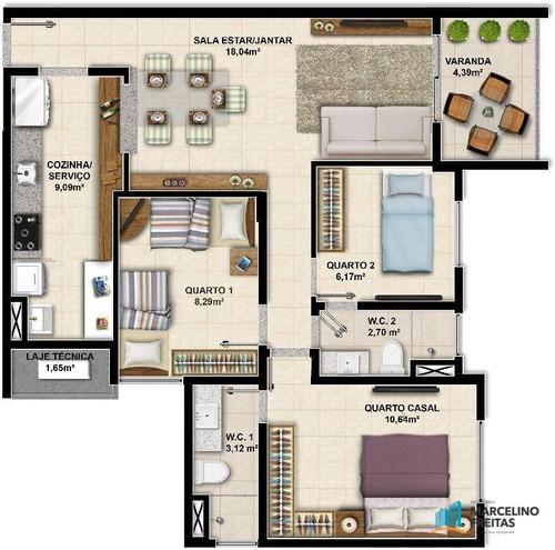 apartamento residencial à venda, coité, eusébio. - codigo: ap2936 - ap2936