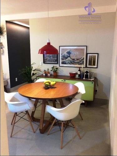 apartamento residencial à venda, condomínio piazza di san marco , valinhos. - ap0888