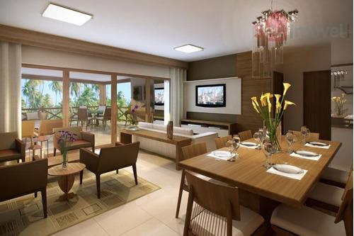 apartamento  residencial à venda, cumbuco, caucaia. - ap0391