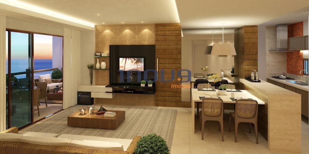 apartamento residencial à venda, cumbuco, caucaia. - ap0434