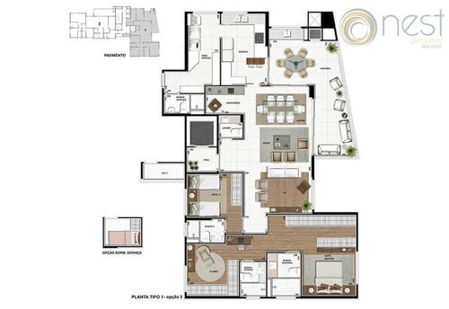 apartamento  residencial à venda, ecoville, curitiba. - ap0384