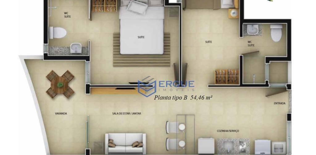 apartamento residencial à venda, edson queiroz, fortaleza. - ap0319