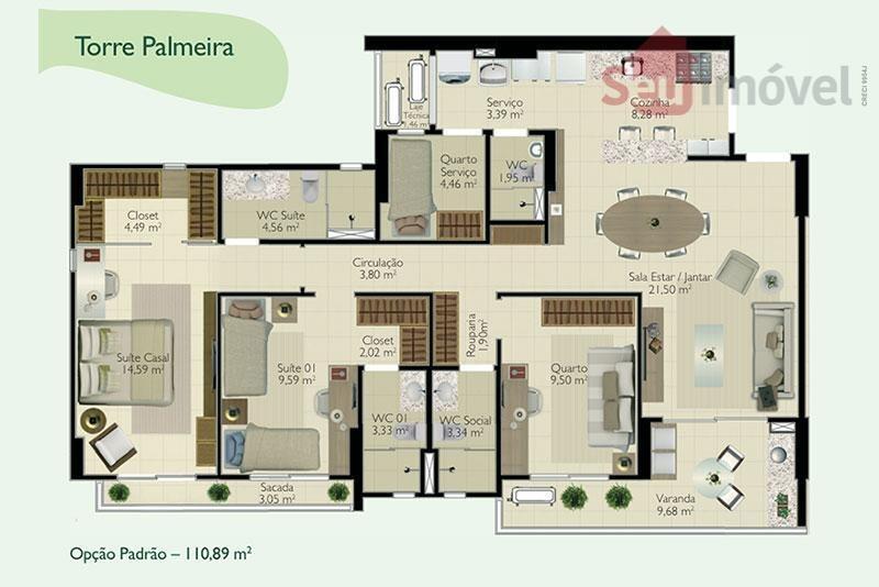 apartamento  residencial à venda, edson queiroz, fortaleza. - ap0403