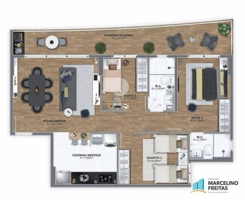 apartamento residencial à venda, edson queiroz, fortaleza - ap2335. - ap2335