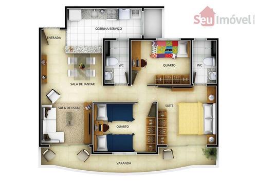 apartamento  residencial à venda, engenheiro luciano cavalcante, fortaleza. - ap0570