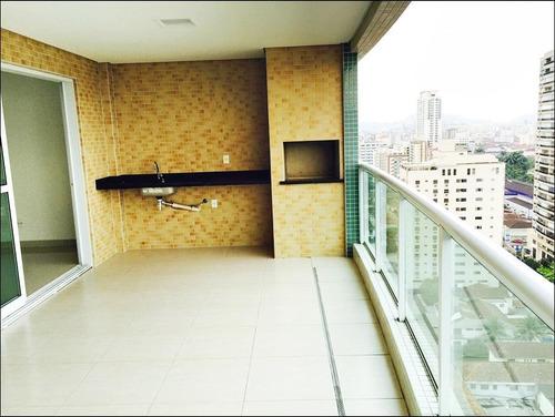apartamento residencial à venda, gonzaga, santos - ap0553. - ap0553
