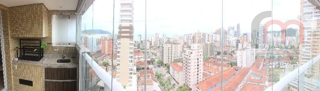 apartamento residencial à venda, gonzaga, santos. - codigo: ap2075 - ap2075