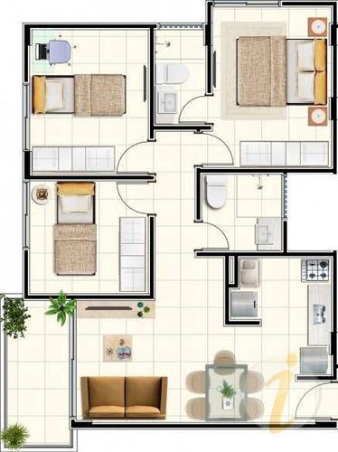 apartamento residencial à venda, intermares, cabedelo. - ap6221