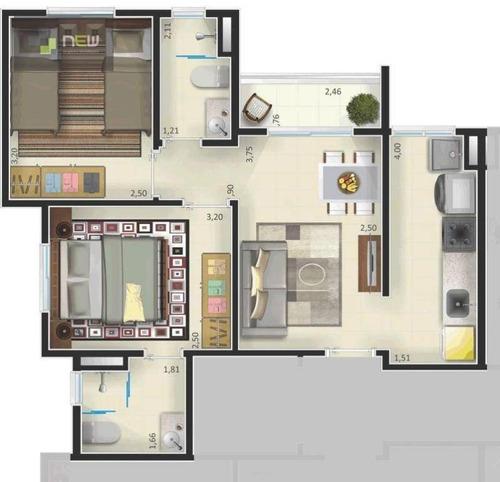 apartamento residencial à venda, ipiranga, ribeirão preto. - ap0950