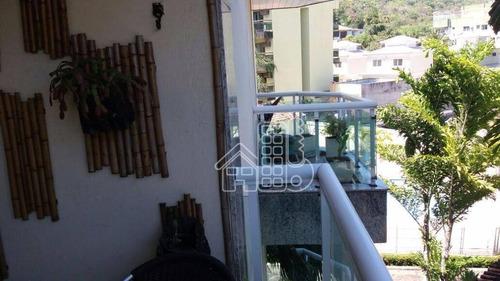 apartamento residencial à venda, itacoatiara, niterói - ap1382. - ap1382