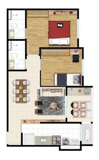 apartamento residencial à venda, jardim alto rio preto, são josé do rio preto. - ap7026