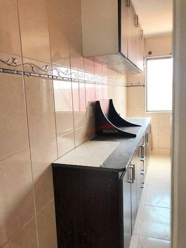 apartamento residencial à venda, jardim alzira franco, fácil acesso à avenida sorocaba e avenida dos estados, santo andré. - ap1339
