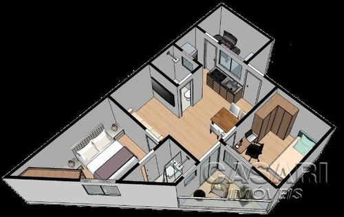 apartamento residencial à venda, jardim alzira franco, santo andré - ap55548. - ap55548