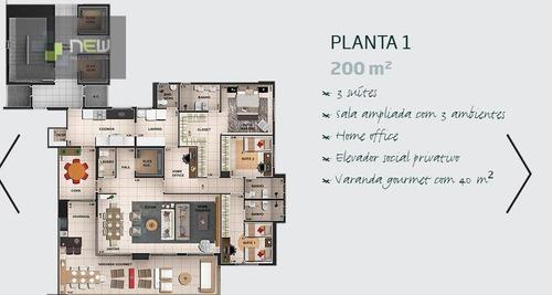 apartamento  residencial à venda, jardim botânico, ribeirão preto. - ap0166