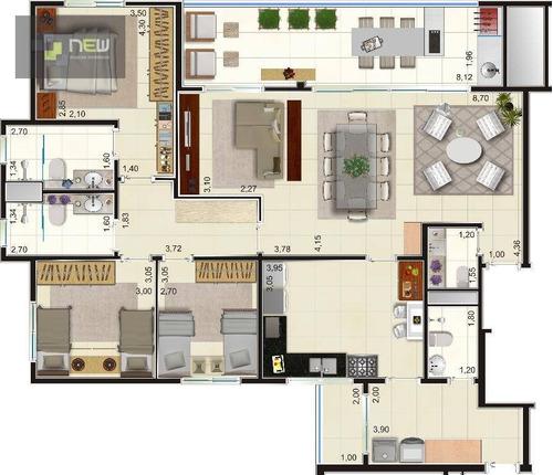 apartamento residencial à venda, jardim nova aliança sul, ribeirão preto. - ap0553