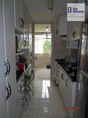 apartamento  residencial à venda, jardim santana, área central, americana. - ap0406