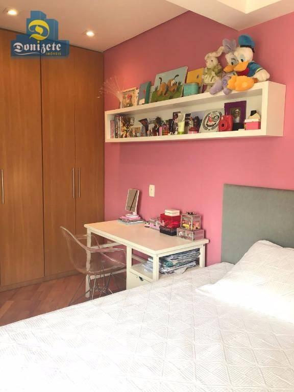apartamento residencial à venda, jardim, santo andré. - ap7145