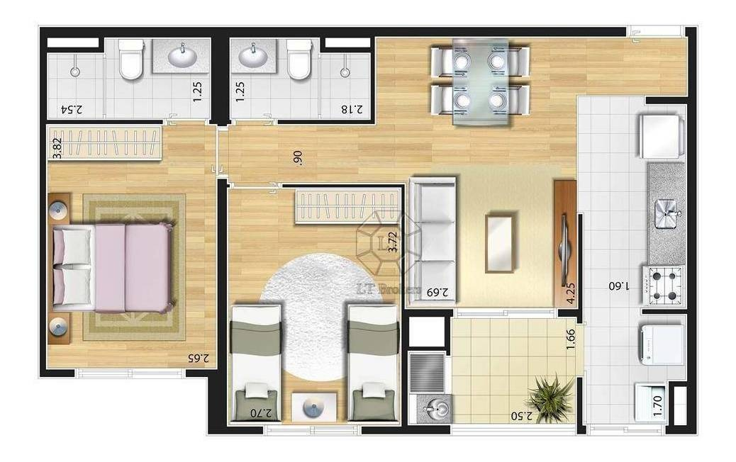 apartamento residencial à venda, jardim são caetano, são caetano do sul. - ap0352