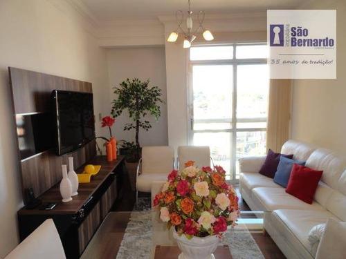 apartamento residencial à venda, jardim são domingos, americana. - ap0137