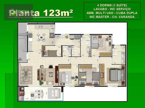 apartamento residencial à venda, jardim são luiz, ribeirão preto. - ap0174