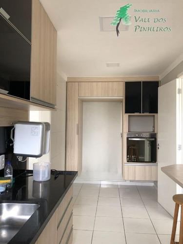 apartamento residencial à venda, jardim wanda, taboão da serra. - ap0571