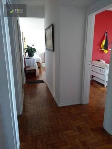 apartamento residencial à venda, josé menino, santos. - ap0952