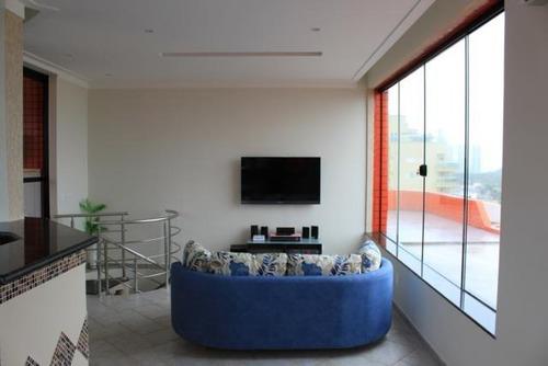 apartamento  residencial à venda, loteamento joão batista julião, guarujá. - ap0333